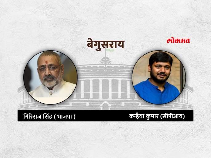 Begusarai Lok Sabha Election Result 2019: BJP's Giriraj Singh lead In Begusarai | Begusarai Lok Sabha Election Result 2019: संपूर्ण देशाचे लक्ष लागलेल्या बेगुसरायमध्ये धक्कादायक निकाल लागण्याची शक्यता