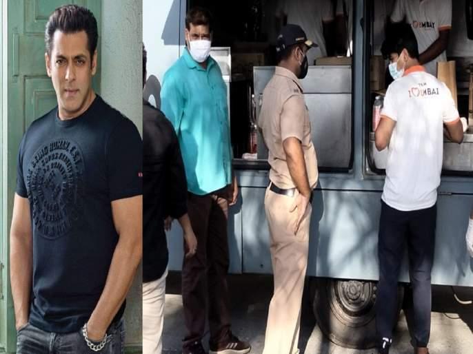Salman Khan provides food packets to Covid-19 frontline workers and police in Mumbai   जिंकलंस रे भावा! लॉकडाऊनमध्ये सलमान खान घेतोय पोलीस आणि फ्रंटलाईन वर्कसची काळजी