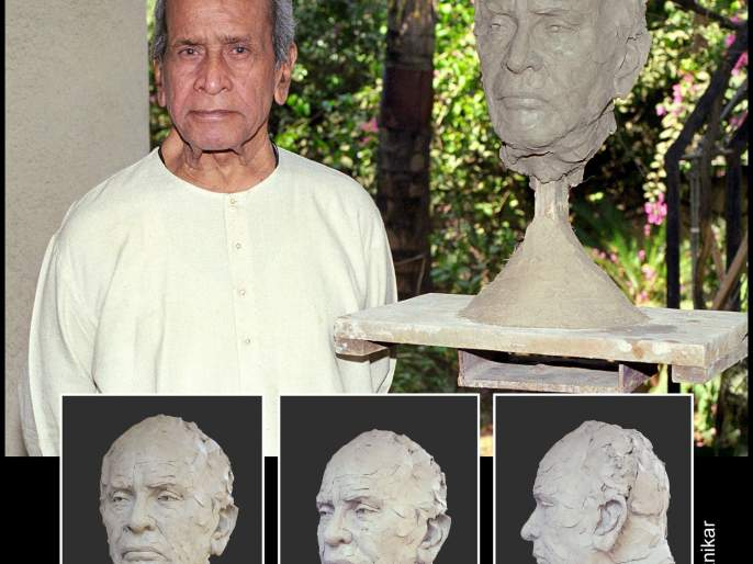 An experience of making the sculpture of Bhimsen Joshi | भीमसेनी मुखशिल्प