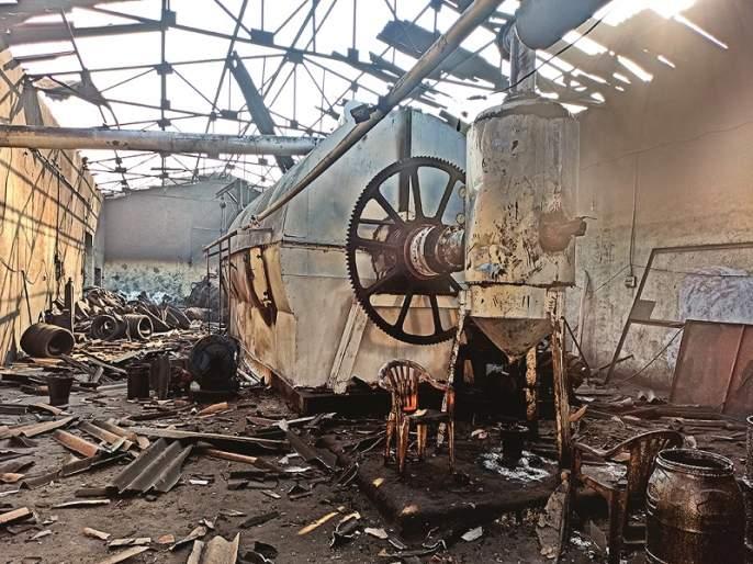 A boiler explosion at a company that processes old tires; Three injured | जुन्या टायरवर प्रक्रिया करणाऱ्या कंपनीत बॉयलरचा स्फोट; तीन जखमी