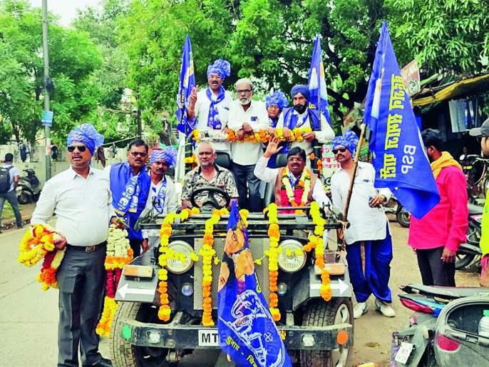 Maharashtra Assembly Election 2019: Suresh Sakhare rally for voters   Maharashtra Assembly Election 2019 : सुरेश साखरे यांचे रॅलीद्वारे मतदारांना साकडे