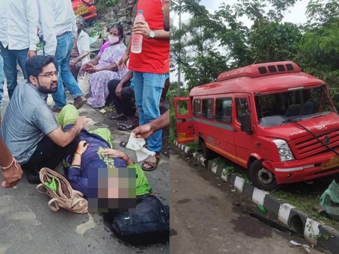 15 injured in Best bus accident in Worli   वरळीला जाणाऱ्या बेस्टच्या वातानुकूलित बसला अपघात, 15 प्रवासी जखमी