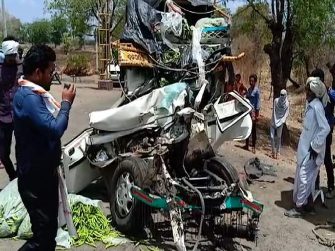 two dead in accident near khalegaon shivar buldhana | खळेगाव शिवारात भीषण अपघात, दोघांचा मृत्यू