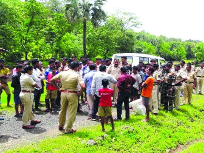 Bullet train survey in police station at Jamtshet | जामशेत येथे पोलीस बंदोबस्तात बुलेट ट्रेन सर्वेक्षण