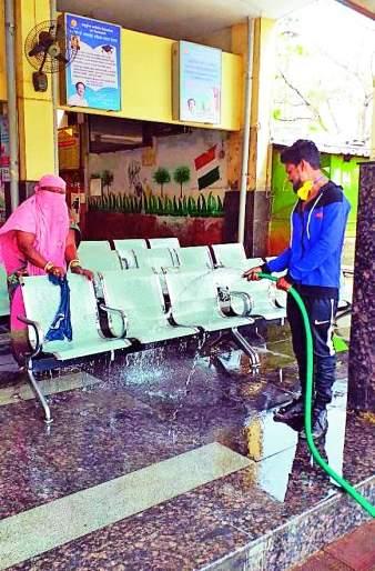 Ganeshpeth bus station becomes shiny: administration initiative | नागपुरातील गणेशपेठ बसस्थानक झाले चकाचक : प्रशासनाचा पुढाकार