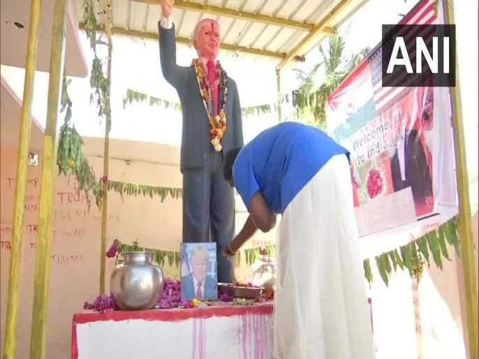 Meet Donald Trump Superfan Who Worships A 6-Feet Statue Of The US President | डोनाल्ड ट्रम्प यांचा भारतातील 'जबरा फॅन' पाहिलात का?