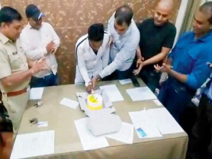5Police suspended; Celebrating the criminal's birthday became expensive | ५ पोलिसांचं निलंबन; गुन्हेगाराचा वाढदिवस साजरा करणं पडलं महागात