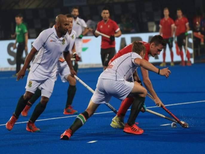 Hockey World Cup 2018: Canada hold South Africa at 1-1 draw in group C match   Hockey World Cup 2018 : कॅनडाच्या जिगरबाज खेळाने आफ्रिकेच्या स्वप्नांना सुरुंग