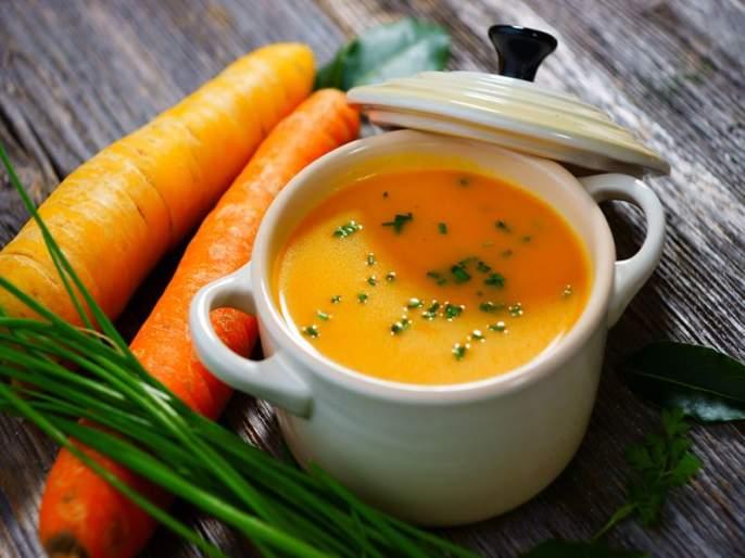 How to make carrot ginger soup recipe | टेस्टी अॅन्ड हेल्दी गाजर आणि आल्याचं सूप!