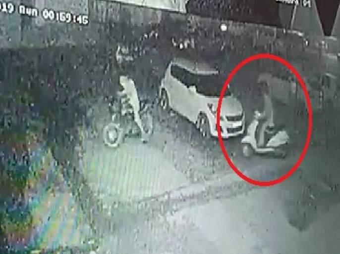 An intoxicated girl stole activa, in a police trap caused by CCTV in harynana | नशेत बेधुंद तरुणीने अॅक्टीव्हा चोरली, सीसीटीव्ही फुटेजमुळे जाळ्यात फसली