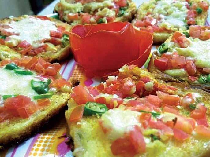 Receipe of chili chees bread in marathi | टेस्टी अन् चीझी 'चिली चीझ ब्रेड'; खाण्यासाठी मस्त झटपट होईल फस्त