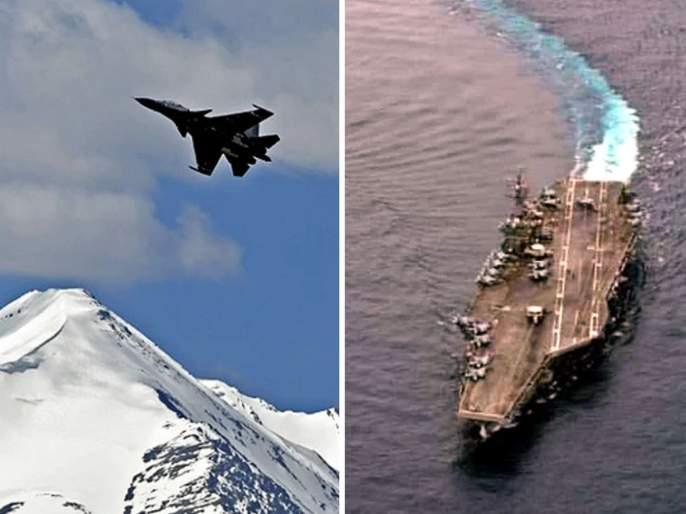 china surrounded from two sides india at galwan and us at south china sea   चीनची दुतर्फा नाकाबंदी! पर्वतांवर भारताची अपाचे, मिग २९, मिराज २००० लढाऊ विमानं अन् समुद्रात अमेरिकेच्या युद्धनौका