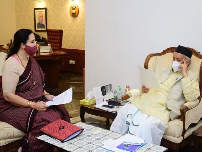 Deepali Chavan Suicide Case: BJP leader Chitra Wagh meets Governor | Deepali Chavan Suicide Case: भाजप नेत्या चित्रा वाघ यांनी घेतली राज्यपालांंची भेट