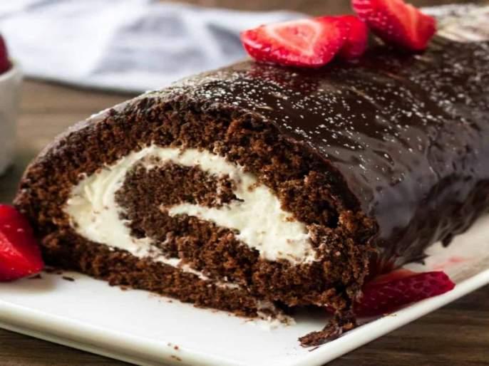 Valentine Day special receipe chocolate swiss roll for your partner | Valentine Day : पार्टनरसाठी स्वतः तयार करा चॉकलेट स्विस रोल!