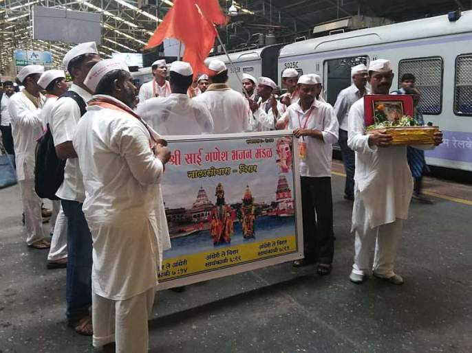 Auspicious enthusiasm in Mumbai of Ashadhi ekadashi, Vaishnavachan Mela gathered at Churchgate station | आषाढी एकादशी: मुंबईतही आषाढीचा उत्साह, चर्चगेट स्थानकावर जमला वैष्णवांचा मेळा