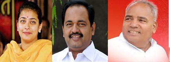 A massive challenge for the Congress-Shiv Sena-BJP | काँग्रेसच्या तार्इंना सेना-भाजपचं जोरदार आव्हान