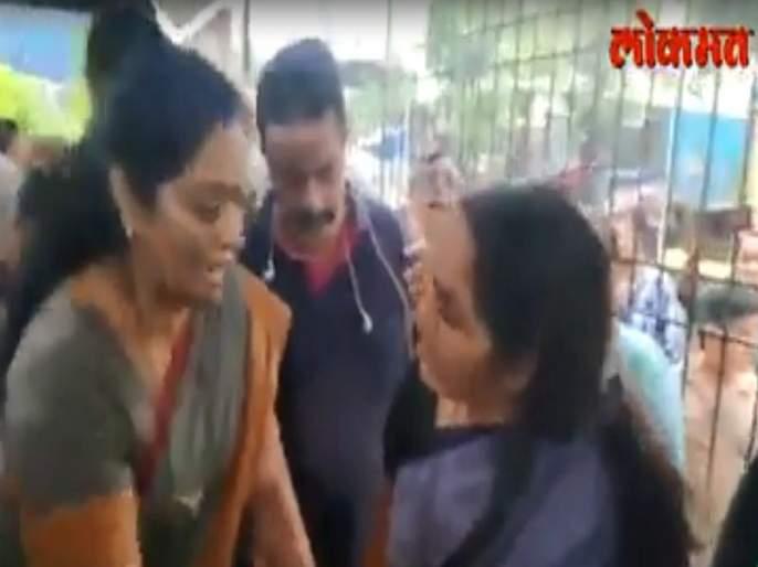 BJP Mayor and Corporator clashes   VIDEO: भाजपाच्या माजी महापौर आणि नगरसेविकेत जुंपली