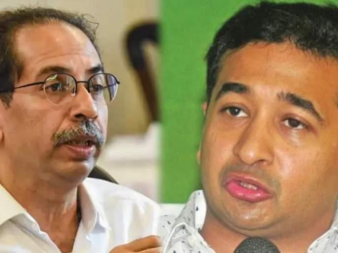 MLA nitesh rane make allegation against cm uddhav thackeray   सरनाईक अन् वायकरांचं भुयारी गटार थेट कलानगरकडे जातं!; नितेश राणेंचा ठाकरेंवर निशाणा