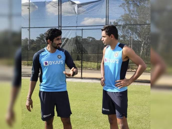 India Vs Australia : T Natarajan added to India's ODI squad; Navdeep Saini complained of back spasm | India Vs Australia : टीम इंडियाच्या वन डे संघात महत्वाचा बदल, नव्या गोलंदाजाचा समावेश