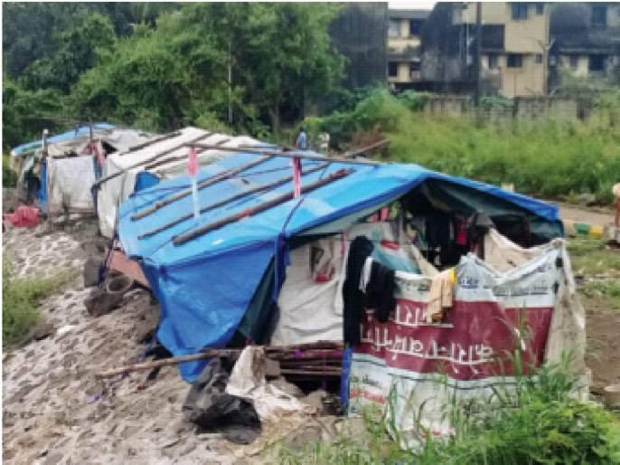Increase in the number of unauthorized huts in Ghansoli; Neglect of Navi Mumbai Municipal Corporation   घणसोलीत अनधिकृत झोपड्यांच्या संख्येत वाढ; नवी मुंबईमहापालिकेचे दुर्लक्ष