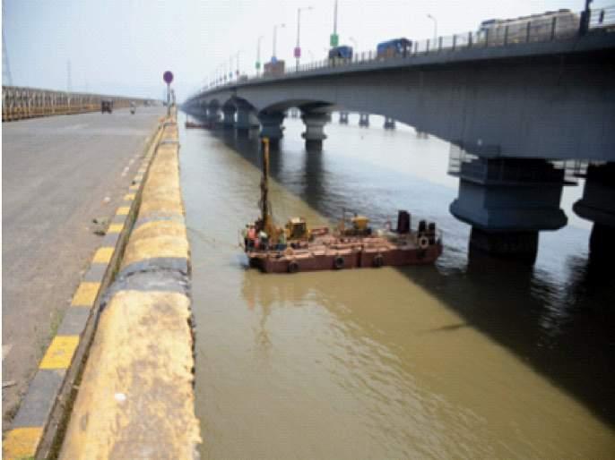 Third bridge overlooking Vashi Bay; MSRDC has tightened the waist | वाशी खाडीवर तिसरा पूल दृष्टिपथात; एमएसआरडीसीने कसली कंबर