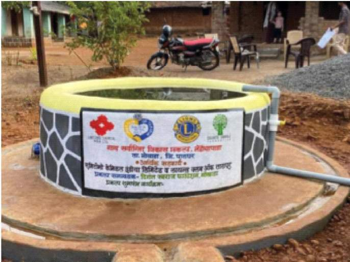 Okra Padya's water problem is solved; Migration for employment continues   भेंडीचा पाड्याची पाण्याची समस्या सुटली;राेजगारासाठी स्थलांतर सुरूच