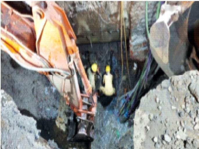 Hansa repair of Tansa main waterway; Excavation was complicated, risky   तानसा मुख्य जलवाहिनीची हाेणार दुरुस्ती;खोदकाम गुंतागुंतीचे, जोखमीचे होते