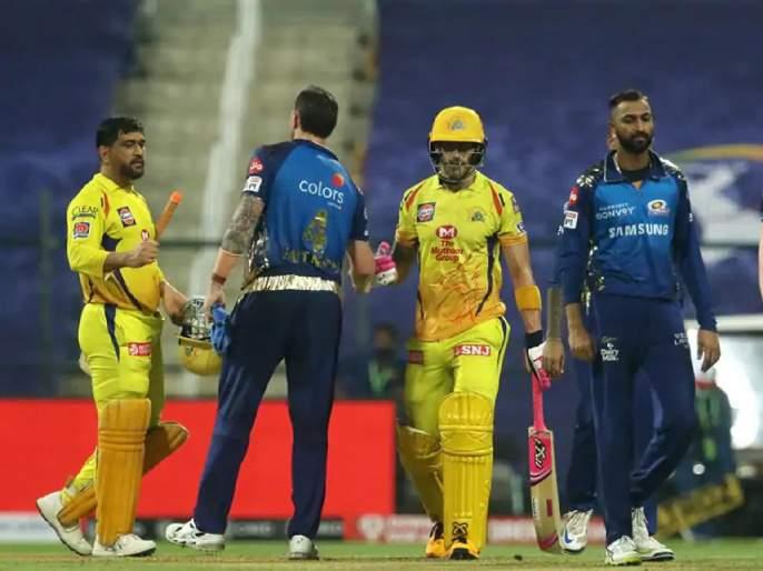 IPL 2020: Chennai Super Kings combine batting with Mumbai Indians | IPL 2020:चेन्नई सुपर किंग्जचीफलंदाजी ढेपाळण्यातही मुंबई इंडियन्सशीविलक्षण योगायोग
