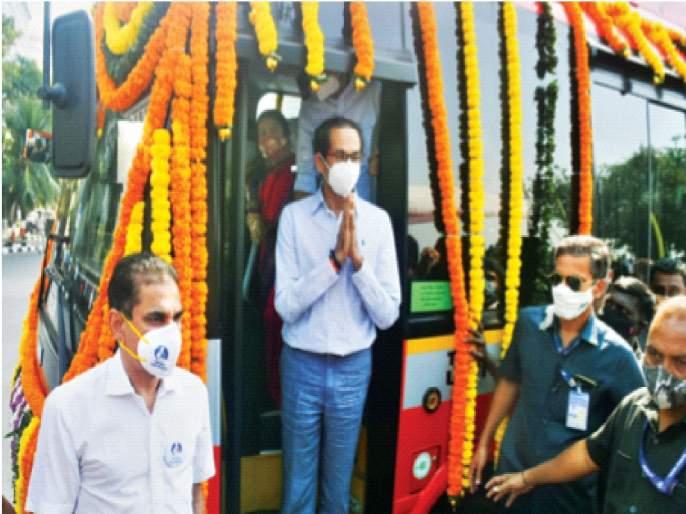 26 AC electric buses to serve Mumbaikars; Dedication at the hands of Chief Minister Thackeray   २६ एसी इलेक्ट्रिक बस मुंबईकरांच्या सेवेत रुजू;मुख्यमंत्री उद्धव ठाकरे यांच्या हस्ते लोकार्पण