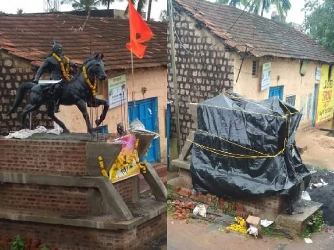 In Belgoan the statue of Chhatrapati was removed by Congress leaders; BJP claim | बेळगावात छत्रपतींचा पुतळा राज्य सरकारने नव्हे तर काँग्रेस नेत्यांनी हटवला; भाजपाचा दावा
