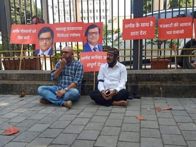 Arnab Goswami: Anvay Naik, BJP MLA Ram Kadam Detained by police for agitation in front of Mantralaya | Arnab Goswami: मंत्रालयासमोर आंदोलन करणारे भाजपाआमदार राम कदम पोलिसांच्याताब्यात