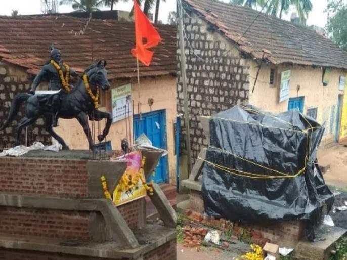 In 8 days, the statue of Chhatrapati will be honorably installed in Mangutti Belgoan | शिवप्रेमींच्या दबावापुढे कर्नाटक सरकार झुकलं; ८ दिवसात छत्रपतींचा पुतळा पुन्हा बसवणार
