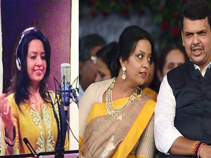 In front of the Chief Minister, wife Amrita Fadnavis sang MNS Song; What is the Truth? Video viral on social media   Video:...अन् चक्क मुख्यमंत्र्यांसमोर पत्नी अमृता फडणवीसांनी गायलं मनसेचं गाणं; काय आहे नेमकं सत्य?