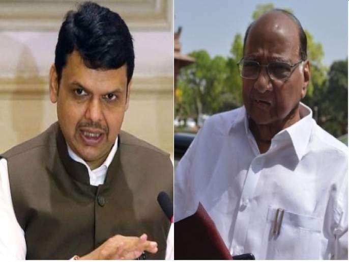 "Opposition Leader Devendra Fadnavis targets Sharad Pawar & CM Uddhav Thackeray | देवेंद्र फडणवीसांचा पुन्हा शरद पवारांवर निशाणा; ""जाणत्या नेत्याला सगळं माहितेय पण..."""
