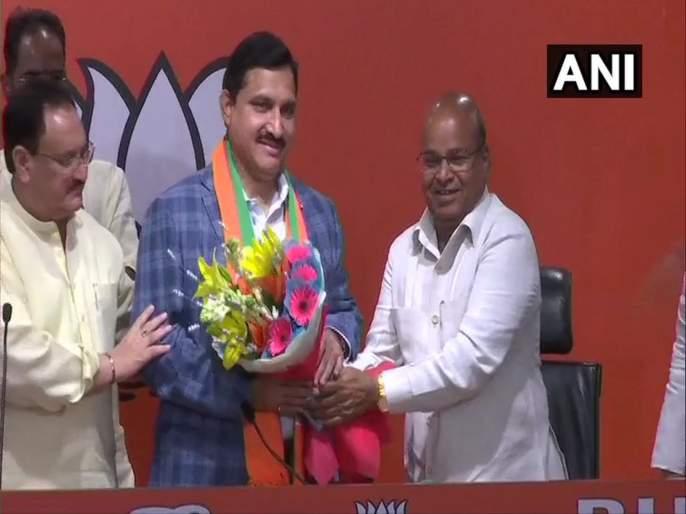 TDP's four Rajya Sabha MPs entering BJP | चंद्राबाबू नायडूंना धक्का, टीडीपीच्या चार राज्यसभा खासदारांचा भाजपात प्रवेश