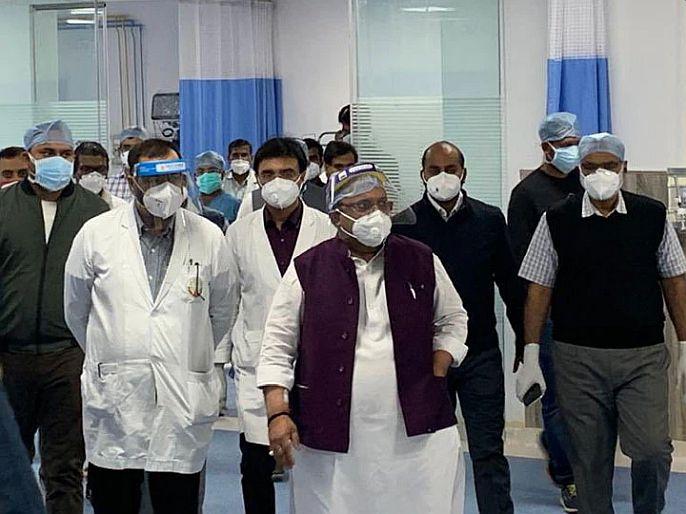 Rajasthan health minister visits hospital despite being infected from corona virus | धक्कादायक! : राजस्थानच्या आरोग्यमंत्र्यांचा प्रताप, कोरोना संक्रमित असतानाही केला रुग्णालयाचा दौरा!