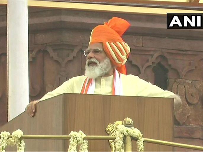 """Prime minister narendra modi red fort independence day speech commented on china and pakistan   """"भारत काय करू शकतो, हे लडाखमध्ये संपूर्ण जगानं पाहिलं""""; लाल किल्ल्यावरून चीन-पाकवर बोलले मोदी"""