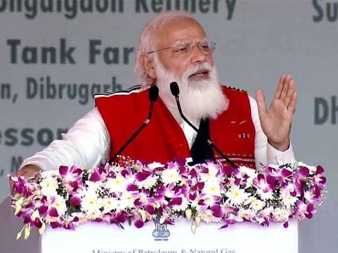 PM Narendra Modi on Assam Visit says treatment of Assam as a stepchild by previous governments | 5 राज्यांत 'या' तारखेला होऊ शकते विधानसभा निवडणुकीची घोषणा; मोदींच्या विधानानंतर चर्चांना उधान