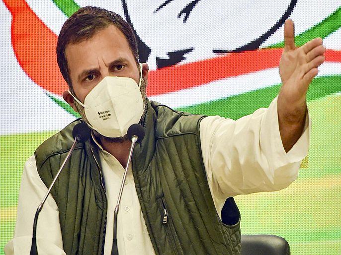 "Rahul gandhi slams center over farmers protest 100 days | FarmersProtest: शेतकरी आंदोलनाचे 100 दिवस; राहुल गांधी म्हणाले- ""अन्नदाता माँगे अधिकार, सरकार करे...!"""