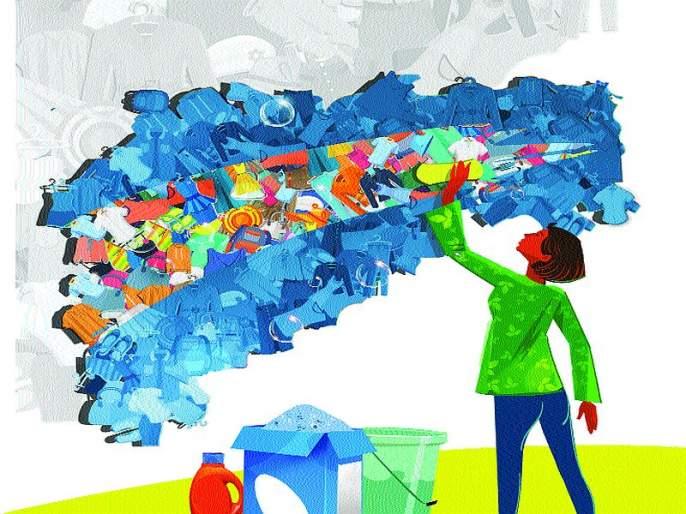 33% is Daily participation of laundry men | कपडे धुण्यातील पुरुषांचा दैनंदिन सहभाग ३३ टक्के