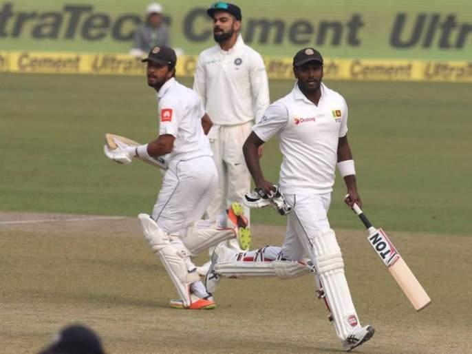 However, India dominated, 356 for 9 after Sri Lanka, three of Ashwin and three wickets   ...तरी वर्चस्व भारताचेच, श्रीलंका ९ बाद ३५६, अश्विनचे तीन बळी