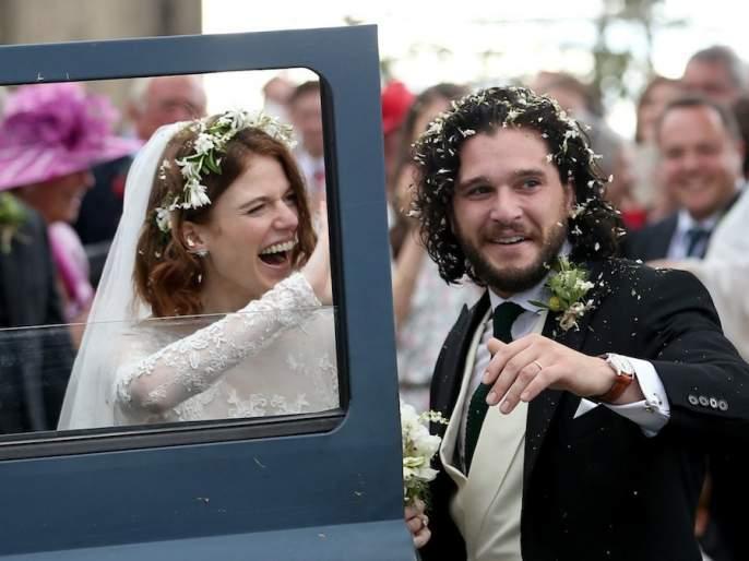 'Junk' s Game of Thrones, stuck in a marriage mate | लग्नाच्या बंधनात अडकली 'गेम आॅफ थ्रोन्स'ची ही जोडी