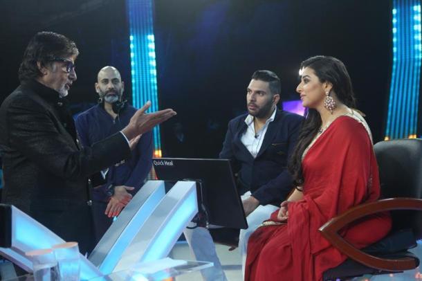 'Kaun Banega Crorepati' in front of Amitabh Bachchan in front of Yuvraj Singh, look at the video! | 'कौन बनेगा करोडपती'च्या फिनालेमध्ये अमिताभ बच्चनसमोर ढसाढसा रडला युवराज सिंग, पहा व्हिडीओ!