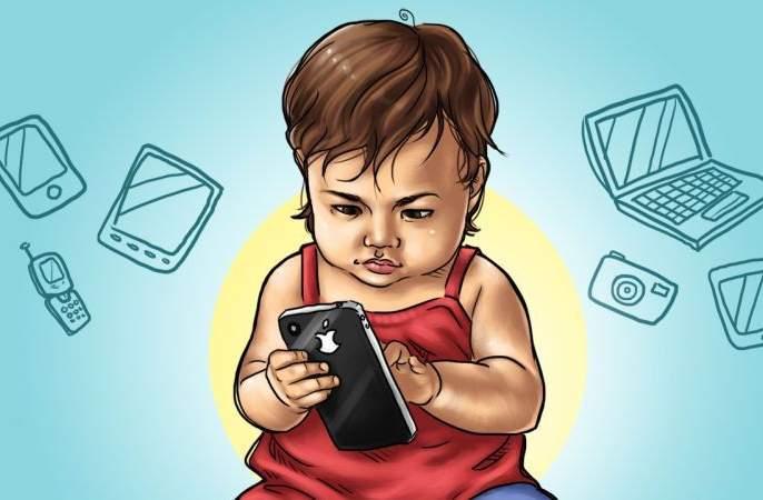 Keep children away from mobiles ... Follow the mobile manners at home! | Children's Day Special; मुलांना मोबाईलपासून लांब ठेवा... घरात तुम्हीही मोबाईल मॅनर्स पाळा !
