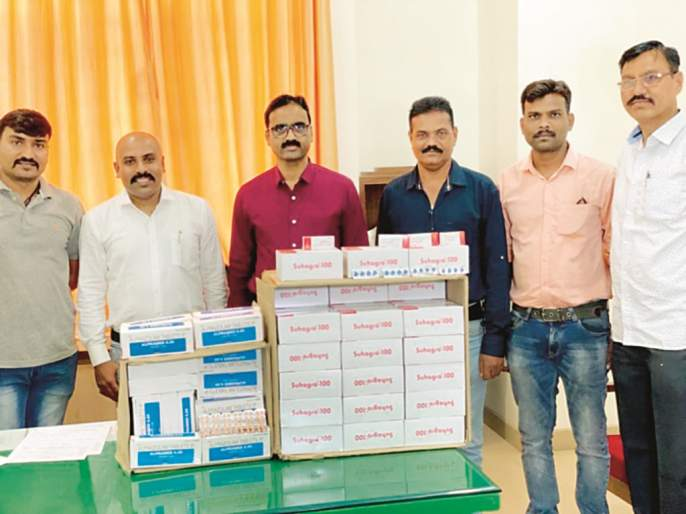 Auranagbad crime branch seizes 3 lakh stocks of drugs pills in Telangana state | तेलंगणा राज्यातून नशेच्या गोळ्यांचा ३ लाखांचा साठा जप्त