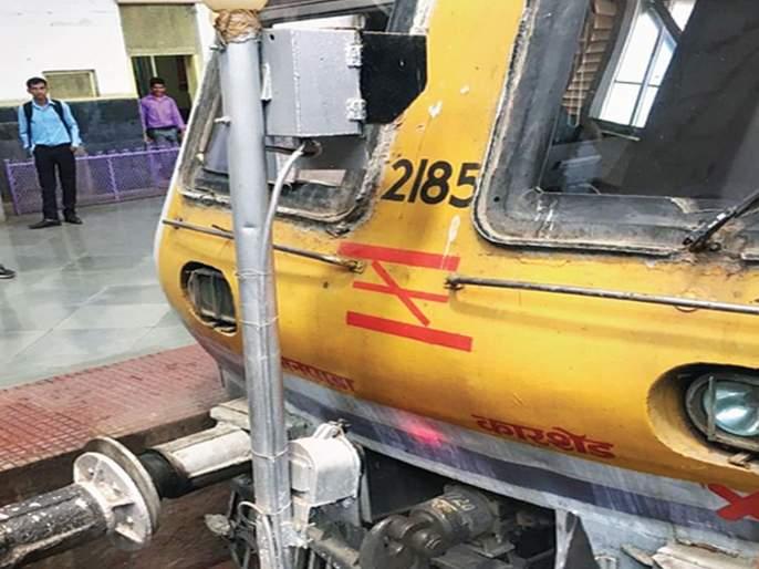 Local train to buffer at CSMT station | सीएसएमटी स्थानकात बफरला लोकल धडकली