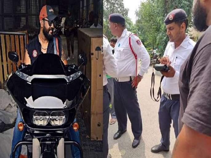 Funny... Police issue chalan to the driver of Harley Davidson for played the song | हास्यास्पद...Harley Davidson च्या चालकाने गाणे वाजविले म्हणून पोलिसांनी पावती फाडली