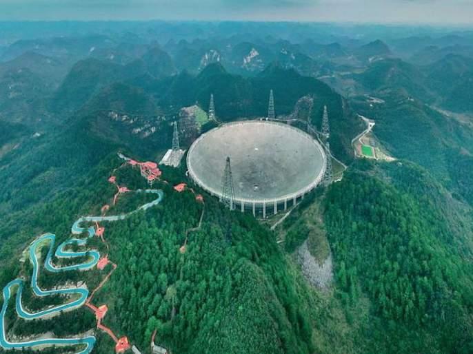 The world's largest radio telescope launched in China; size like 30 Football Ground | जगातील सर्वात मोठा रेडिओ टेलिस्कोप सुरू; आकार पाहून डोळेच विस्फारतील