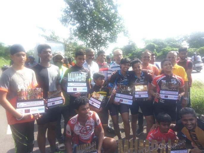 Mumbai Cycling Race: Sonu, Noun, Ajay, Maninder took no. 1 spot   मुंबई सायकलिंग शर्यत : सोनू , संज्ञा, अज्ञेय, मणिंदर अव्वल