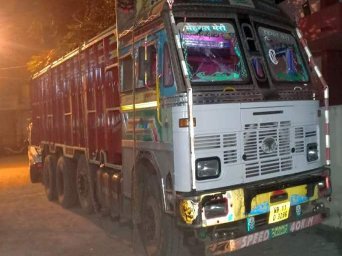 The truck carrying the cattle leather was caught | गुरांचे चामडे घेऊन जाणारा ट्रक पकडला